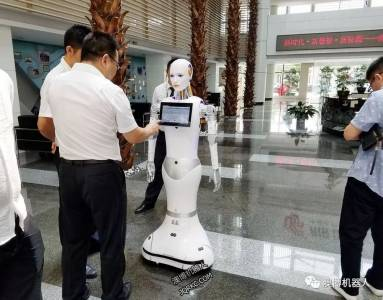 Robot XiaoAo is serving international airlines